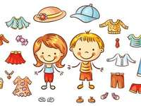 Summer clothes - Compose puzzles regarding summer clothing.