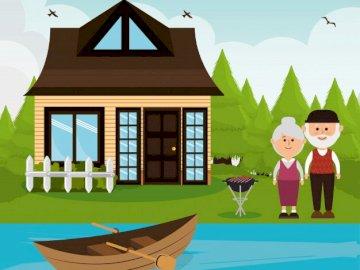 Habitat - Identifiez dans l'image l'habitat des humains, des poissons, des plantes et des animaux te