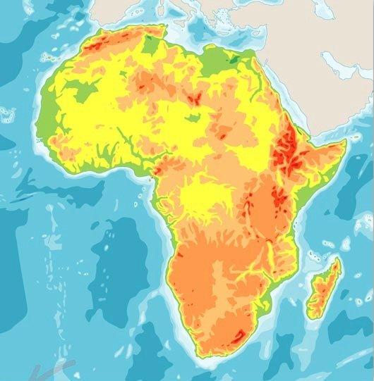 Afrika térkép - Készítsen Afrika térképét a puzzle-ból (6×6)