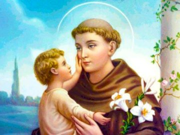 S.antonio - Portrait of St. Anthony of Padua for children