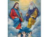 Holy Trinity puzzle - Apocalypse of four riders. Apocalypse of four horsemen. Liberia River. Polar Bear. Arctic animals. B