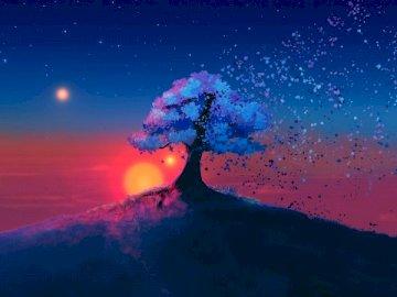 colunas - Olá, aqui está a arte que apresento a vocês uma bonita paisagem