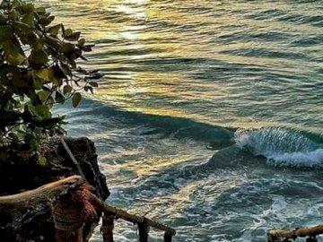 Seaside landscape. - Puzzle: seaside landscape.