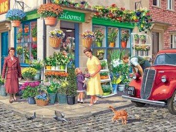Florist. - Jigsaw puzzle. Building. Florist.