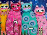 pisici colorate