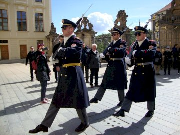 Czech Prague - Changing of the guard at the Prague Castle