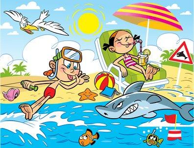 wakacje- obrazek dla dzieci