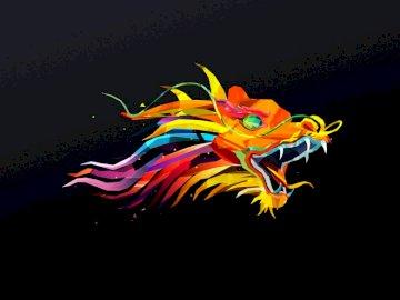 Un dragon multicolor para niños - Un ser imaginario fantástico e interesante