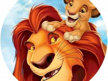 Król Lew - puzzle dla przedszkolaków