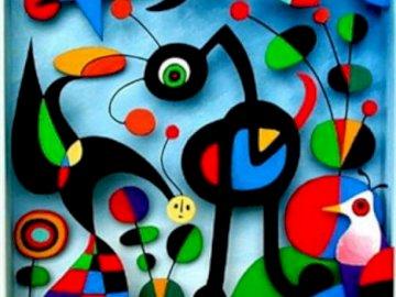 El Jardín - Es un rompecabezas de la obra de arte de Miro