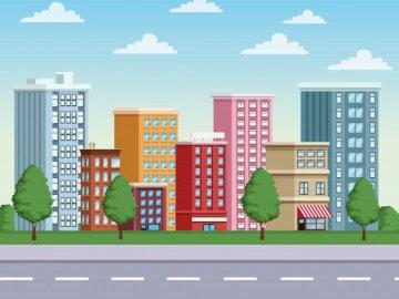 Area Urbana - Neste quebra cabeça você terá um exemplo de uma are urbana.
