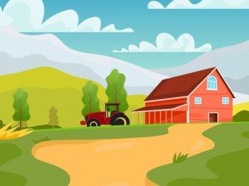 Area rural - Neste quebra cabeça você poderá onservar uma paisagem rural.