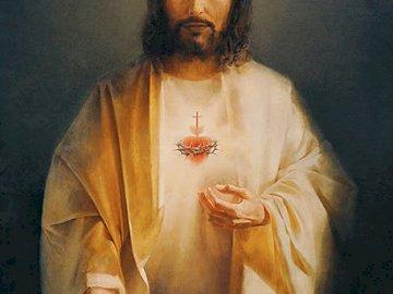 Najśw. Serce Pana Jezusa - Najświętsze Serce Pana Jezusa - piękny obraz