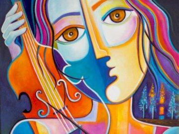 Wiolonczelistka - kobieta, wiolonczelistka, sztuka