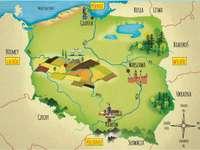 Karte von Polen - Puzzle mit einer Karte von Polen