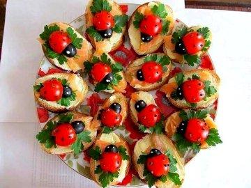 kanapki - biedronki - śniadanie dla dzieci