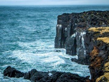 Panorama - Costa da falésia da Islândia