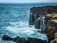 Panorama - Iceland's cliff shore