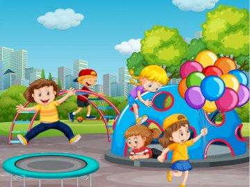 La journée des enfants - Complétez le puzzle