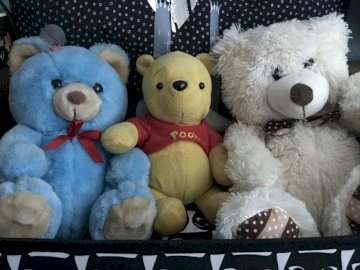 Children's Day bowls - There are my beloved bears in the picture, please come up with names for them