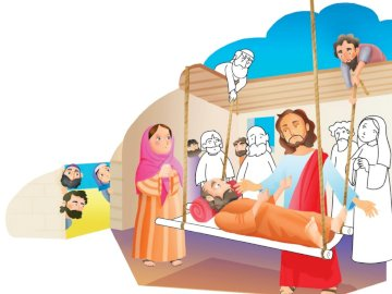 The miracles of Jesus - At Capernaum Jesus heals a paralytic