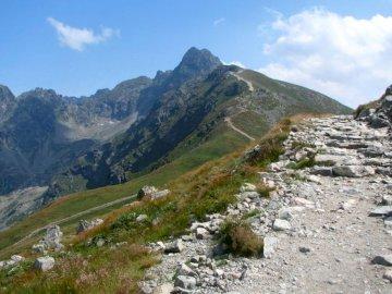 High mountains - Tatra Mountains - tourist trail.