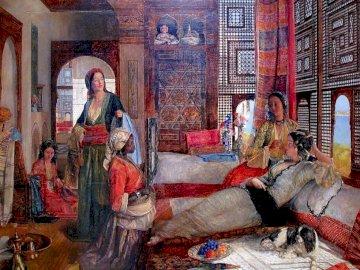 Stary Egipt - harem, Egipt, stary, kolor