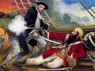 Czarnobrody - pirat, walka, czarnobrody