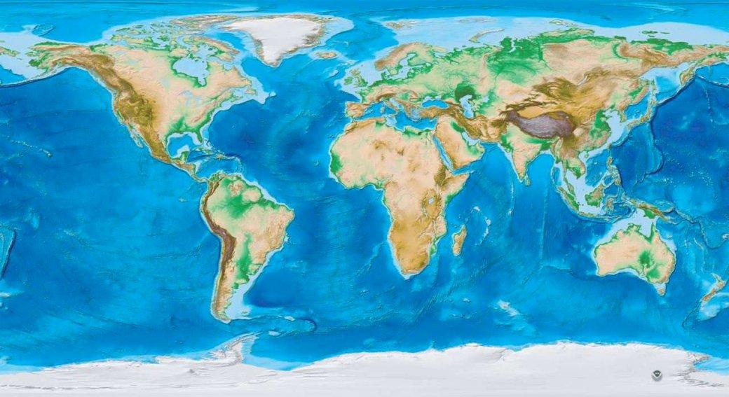 Mapa fizyczna świata - Mapa świata - zadanie dla dzieci (5×5)