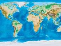 Mapa fizyczna świata