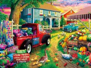 Życie na farmie - gospodarstwo, farma, praca, życie