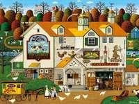 Farma - Charles Wysocki - gospodarstwo, farma, dom