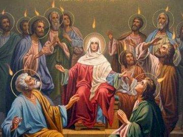 Zesłanie Ducha Świętego - Duch Święty zstępuje na Apostołów