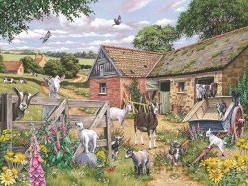 Wiejskie zwierzęta. - Układanka: wiejskie zwierzęta.