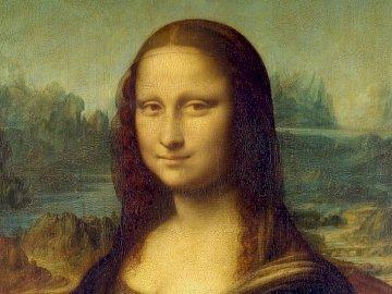 Mona Lisa - Bild von Leonardo Da Vinci. Dies ist ein sehr berühmtes Bild. Wer würde ihn nicht kennen?