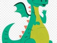 Groene Draak - De groene draak die Saint George verslaat