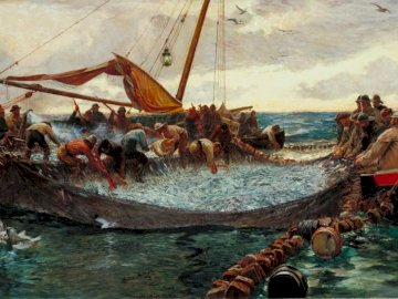 Charles Napier Henry - Pilchards - painting, sea, fishing, art