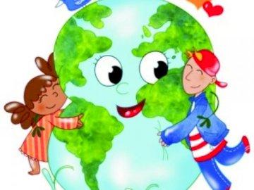 La terra è il nostro pianeta - La terra è il nostro pianeta - metti insieme enigmi. In bocca al lupo!