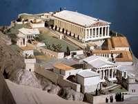 La Grèce ancienne - Ceci est un diorama de la Grèce antique
