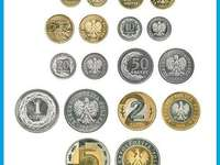 Polské mince - Uspořádejte hádanky zobrazující polské mince.