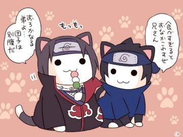 Итачи Саске - Версия за говорещи котки на Itachi и Sasuke