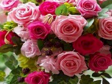 Róże.         . - Piękny bukiet róż                  .