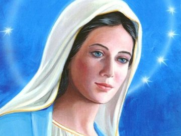 Madonnasanta - Madonna Santissima velo azzurro