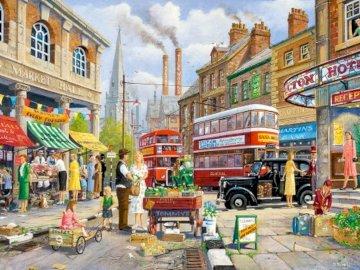 Stoisko na rynku - The-Market-Stall pintura