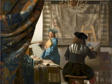 Jan Vermeer - The Art of Painting - Vermeer, art, painting, figures