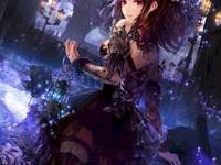 Gothic anime girl - Anime girl, really pretty, not exactly gothic, beautiful!