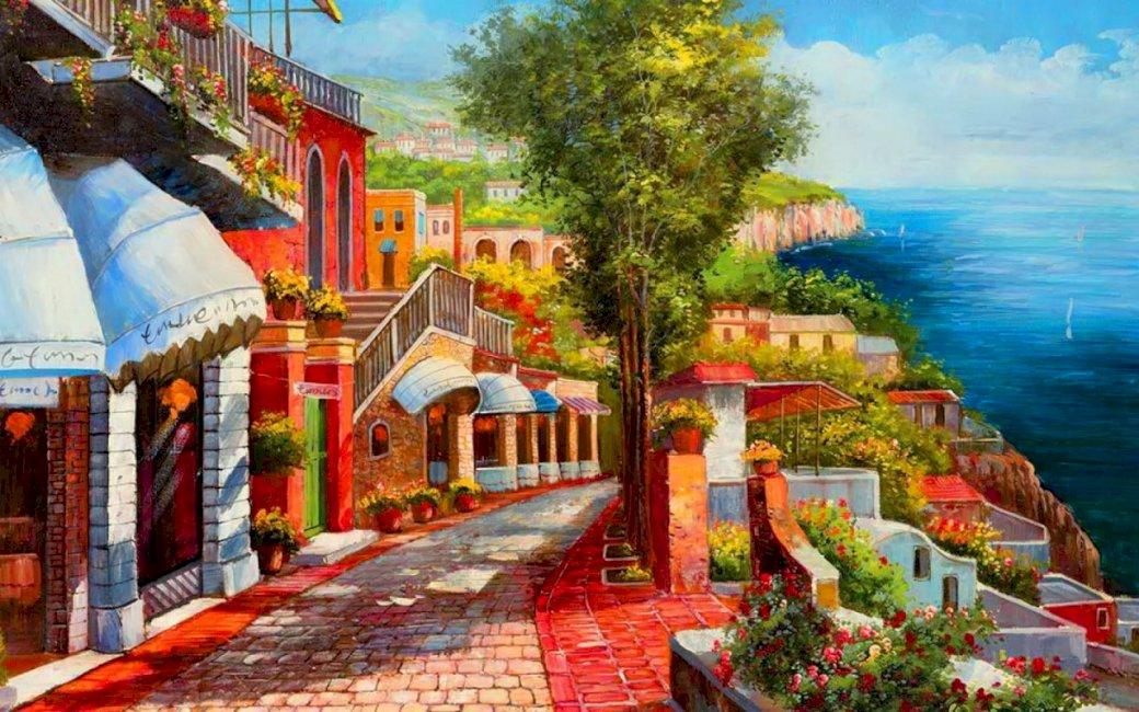 Île de Capri - vacances, île, météo, été (12×8)
