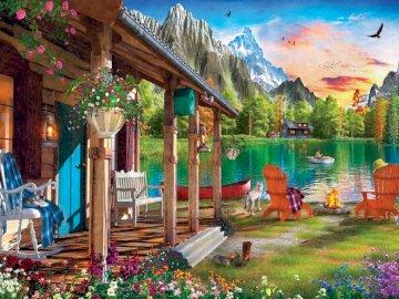 Domek w górach - góry, dom letniskowy, spokój