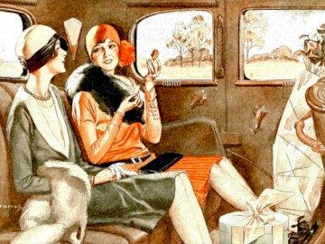 Szalone lata 20 - te - moda, lata dwudzieste, kobiety