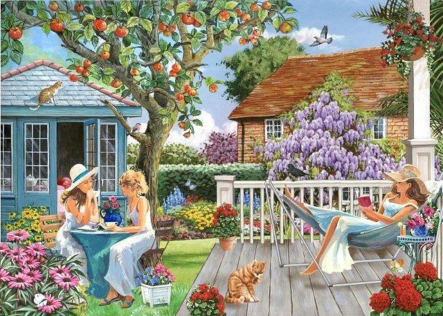 Wiosna w ogrodzie. - Układanka: wiosna w ogrodzie.
